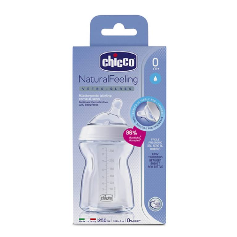 CH BIB NAT-FEEL VTR 0M+ 250ML