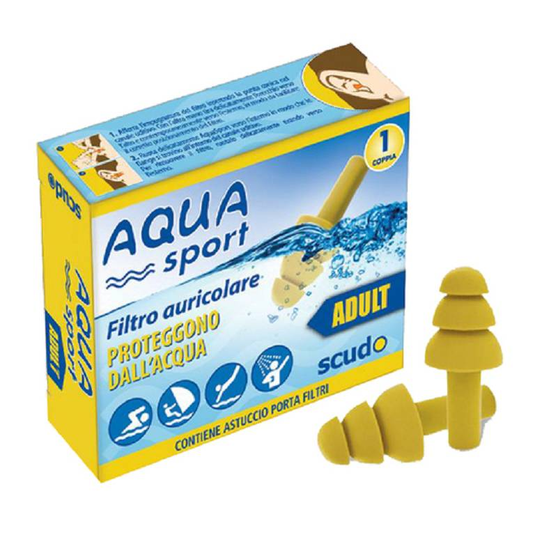 EARPLUG SCUDO AQUASPORT AD 2PZ