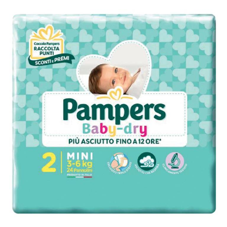 PAMPERS BABY DRY DOWNCOUNT MIN